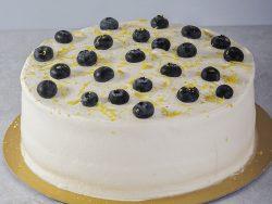 Bolo de Limão Siciliano e Blueberry